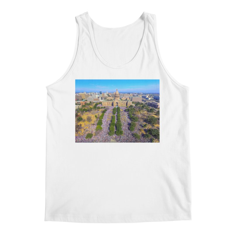 Capitol Women's March / Custom Merchandise / Aerial Photography Men's Regular Tank by Holp Photography Artist Shop