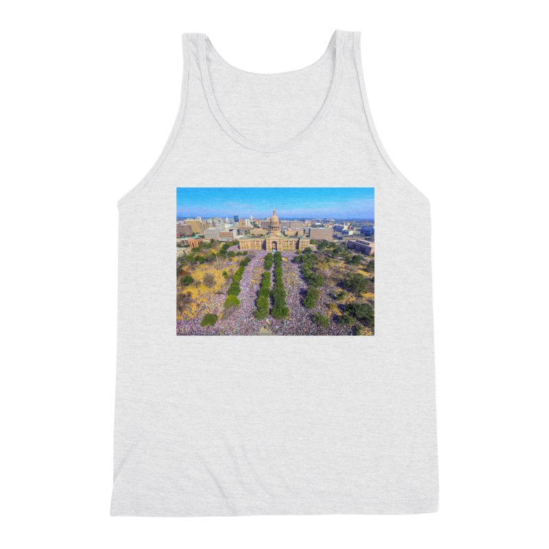 Capitol Women's March / Custom Merchandise / Aerial Photography Men's Triblend Tank by Holp Photography Artist Shop