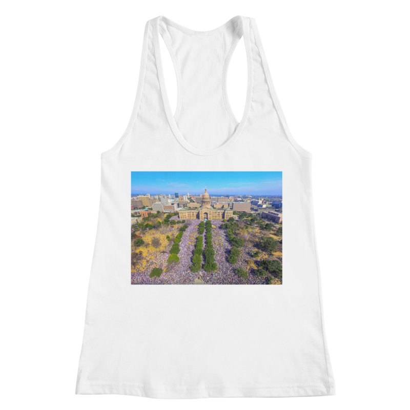 Capitol Women's March / Custom Merchandise / Aerial Photography Women's Racerback Tank by Holp Photography Artist Shop
