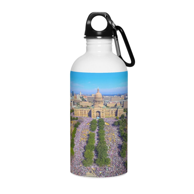 Capitol Women's March / Custom Merchandise / Aerial Photography Accessories Water Bottle by Holp Photography Artist Shop