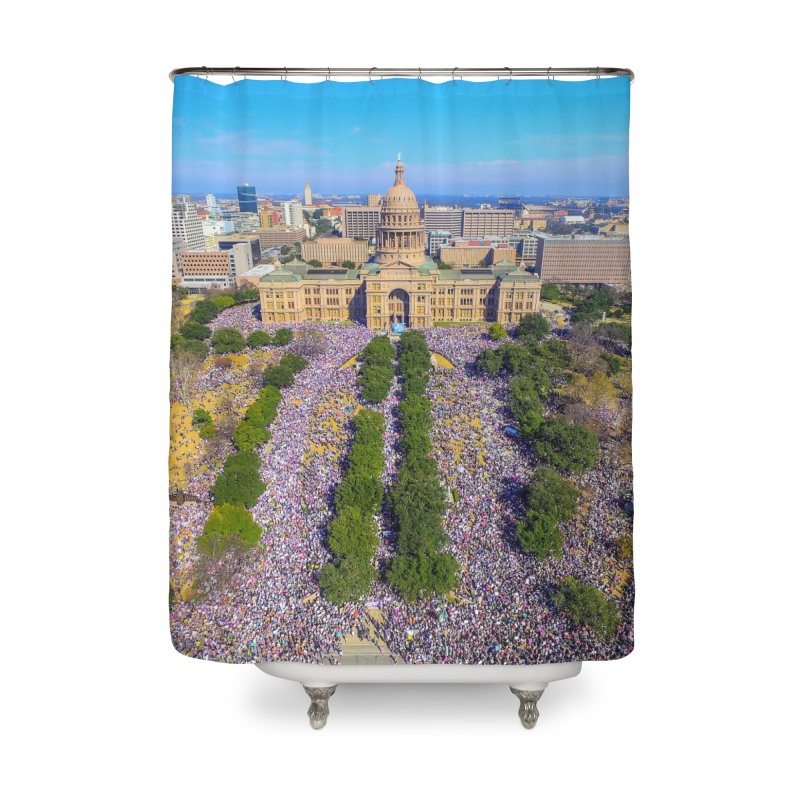 Capitol Women's March / Custom Merchandise / Aerial Photography Home Shower Curtain by Holp Photography Artist Shop