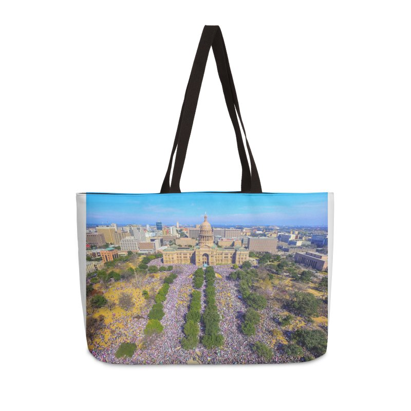 Capitol Women's March / Custom Merchandise / Aerial Photography Accessories Weekender Bag Bag by Holp Photography Artist Shop