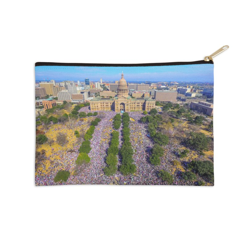 Capitol Women's March / Custom Merchandise / Aerial Photography Accessories Zip Pouch by Holp Photography Artist Shop