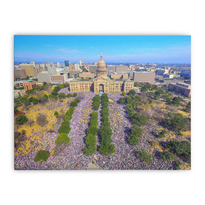 Capitol Women's March / Custom Merchandise / Aerial Photography Home Stretched Canvas by Holp Photography Artist Shop