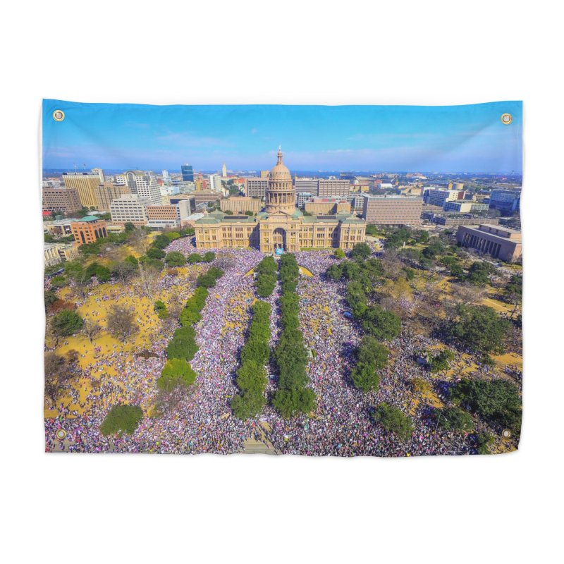 Capitol Women's March / Custom Merchandise / Aerial Photography Home Tapestry by Holp Photography Artist Shop