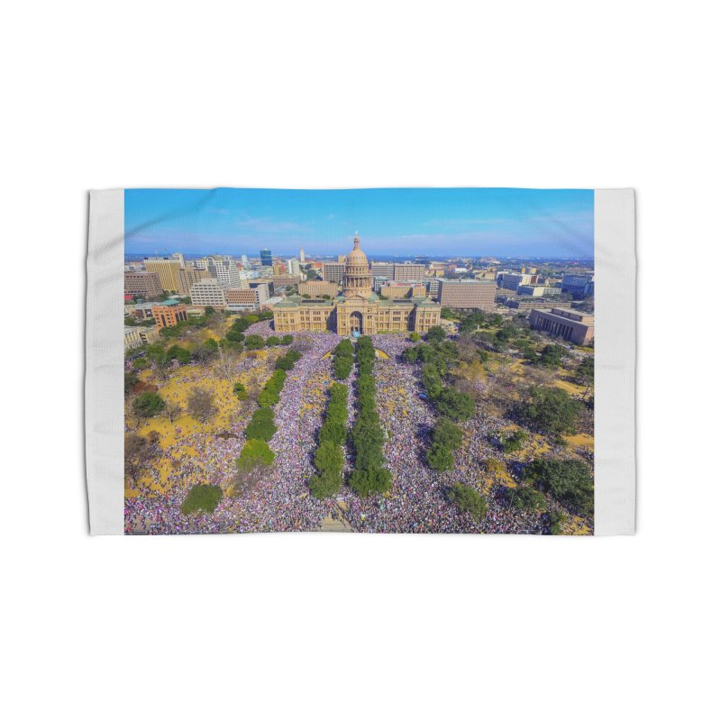 Capitol Women's March / Custom Merchandise / Aerial Photography Home Rug by Holp Photography Artist Shop