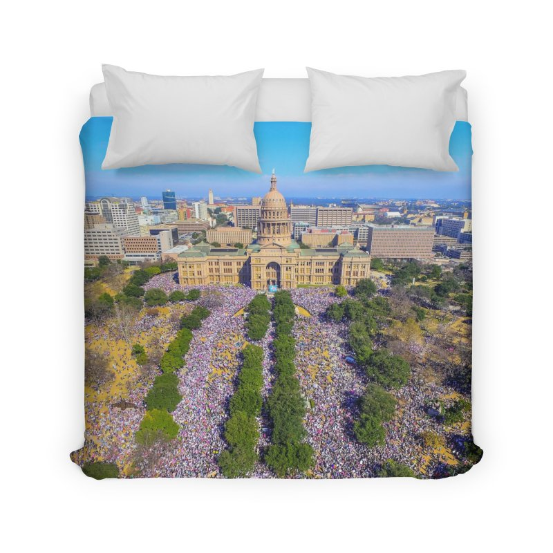Capitol Women's March / Custom Merchandise / Aerial Photography Home Duvet by Holp Photography Artist Shop