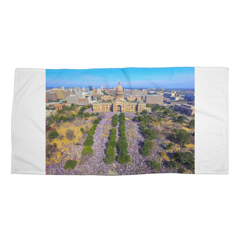 Capitol Women's March / Custom Merchandise / Aerial Photography Accessories Beach Towel by Holp Photography Artist Shop