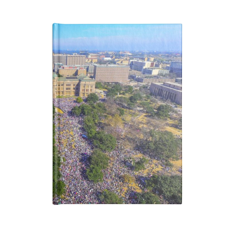 Capitol Women's March / Custom Merchandise / Aerial Photography Accessories Lined Journal Notebook by Holp Photography Artist Shop