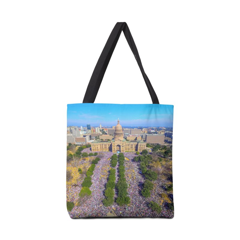 Capitol Women's March / Custom Merchandise / Aerial Photography Accessories Tote Bag Bag by Holp Photography Artist Shop