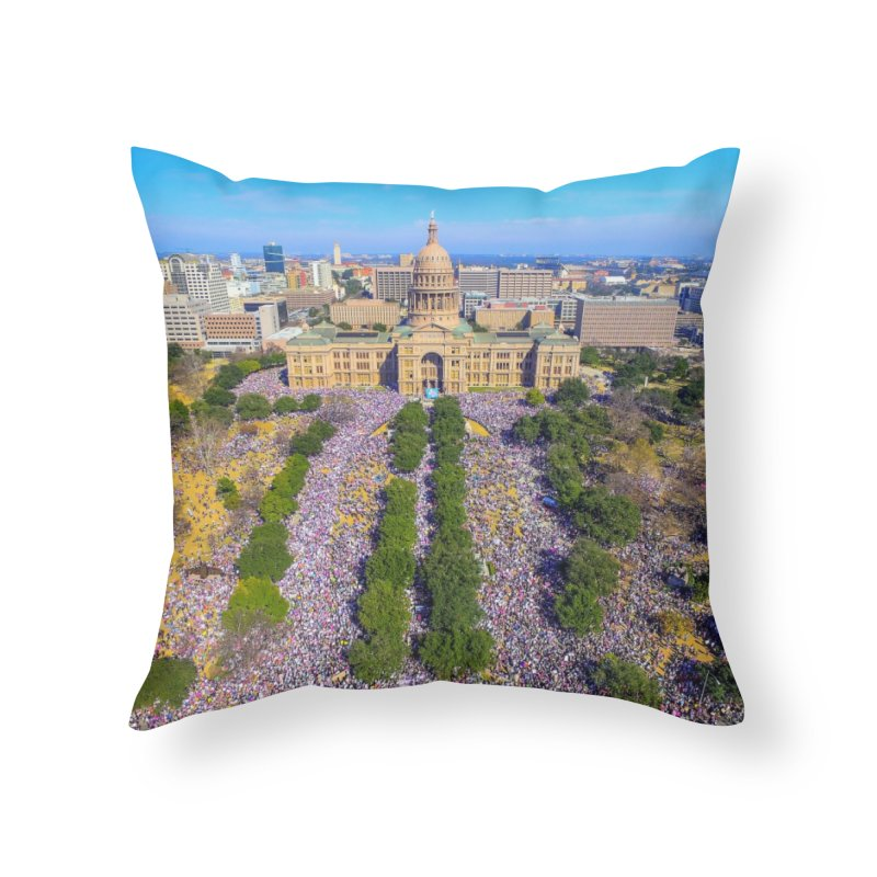 Capitol Women's March / Custom Merchandise / Aerial Photography Home Throw Pillow by Holp Photography Artist Shop