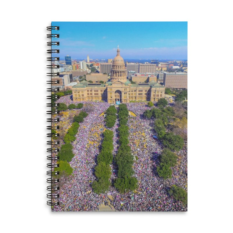 Capitol Women's March / Custom Merchandise / Aerial Photography Accessories Lined Spiral Notebook by Holp Photography Artist Shop