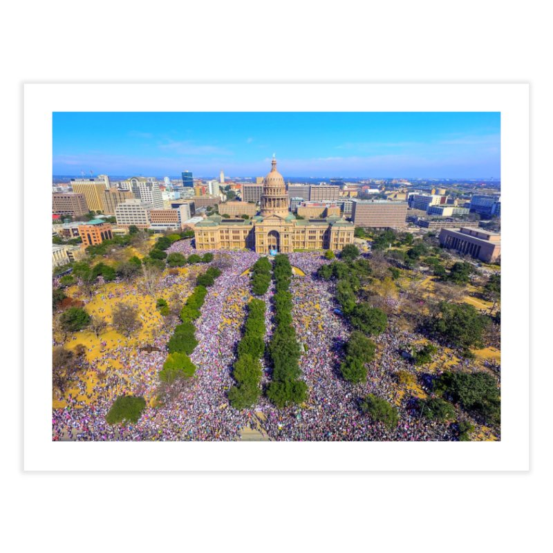 Capitol Women's March / Custom Merchandise / Aerial Photography Home Fine Art Print by Holp Photography Artist Shop
