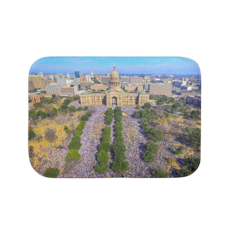 Capitol Women's March / Custom Merchandise / Aerial Photography Home Bath Mat by Holp Photography Artist Shop