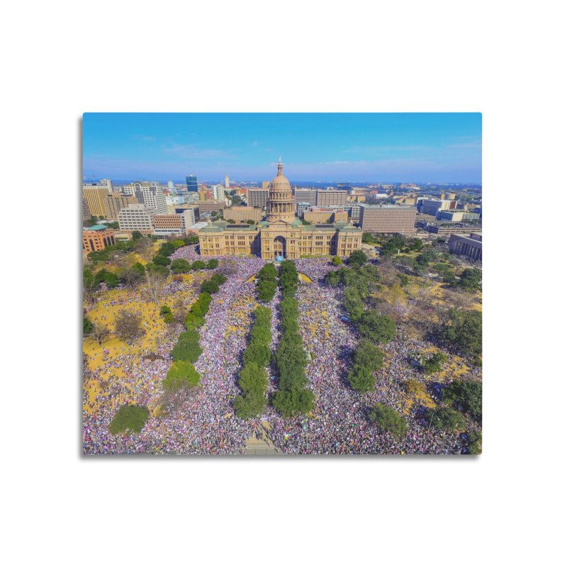 Capitol Women's March / Custom Merchandise / Aerial Photography Home Mounted Aluminum Print by Holp Photography Artist Shop