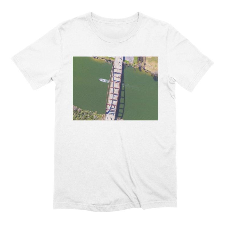 Over Pennybacker Bridge / Custom Merchandise / Aerial Photography Men's Extra Soft T-Shirt by Holp Photography Artist Shop