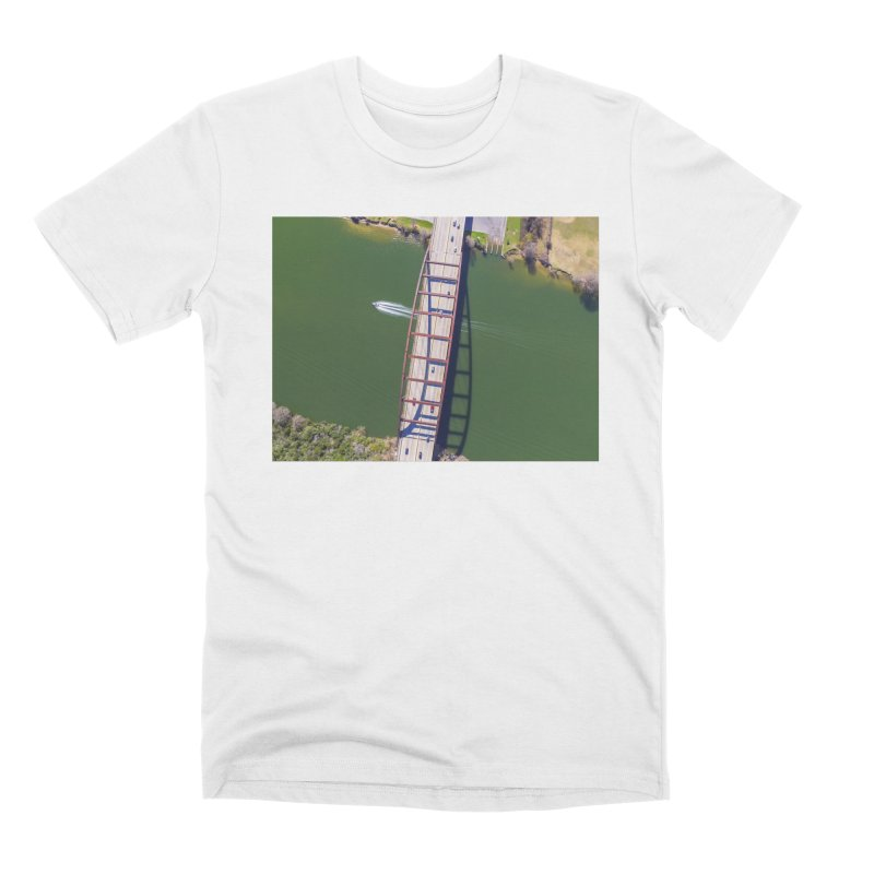 Over Pennybacker Bridge / Custom Merchandise / Aerial Photography Men's Premium T-Shirt by Holp Photography Artist Shop