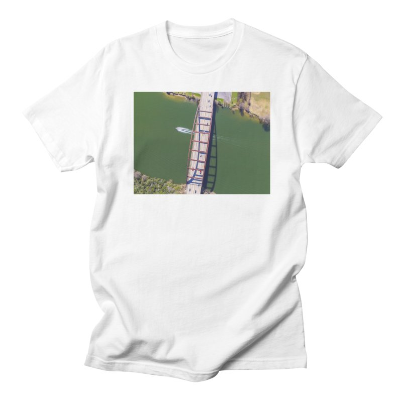Over Pennybacker Bridge / Custom Merchandise / Aerial Photography Women's Regular Unisex T-Shirt by Holp Photography Artist Shop
