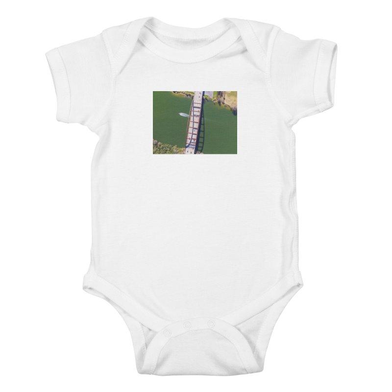 Over Pennybacker Bridge / Custom Merchandise / Aerial Photography Kids Baby Bodysuit by Holp Photography Artist Shop