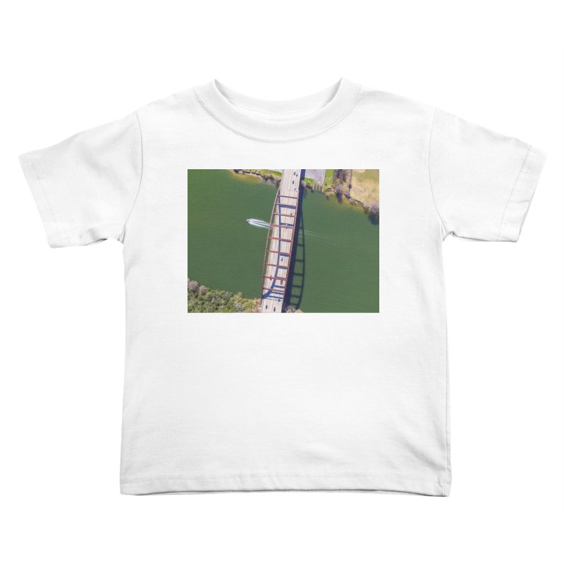 Over Pennybacker Bridge / Custom Merchandise / Aerial Photography Kids Toddler T-Shirt by Holp Photography Artist Shop