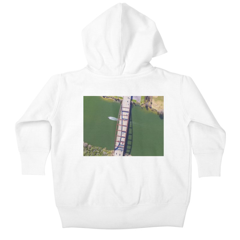 Over Pennybacker Bridge / Custom Merchandise / Aerial Photography Kids Baby Zip-Up Hoody by Holp Photography Artist Shop
