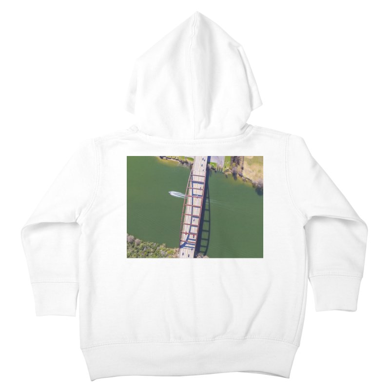Over Pennybacker Bridge / Custom Merchandise / Aerial Photography Kids Toddler Zip-Up Hoody by Holp Photography Artist Shop