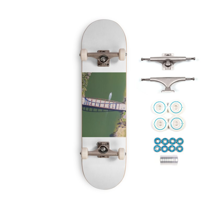 Over Pennybacker Bridge / Custom Merchandise / Aerial Photography Accessories Complete - Basic Skateboard by Holp Photography Artist Shop