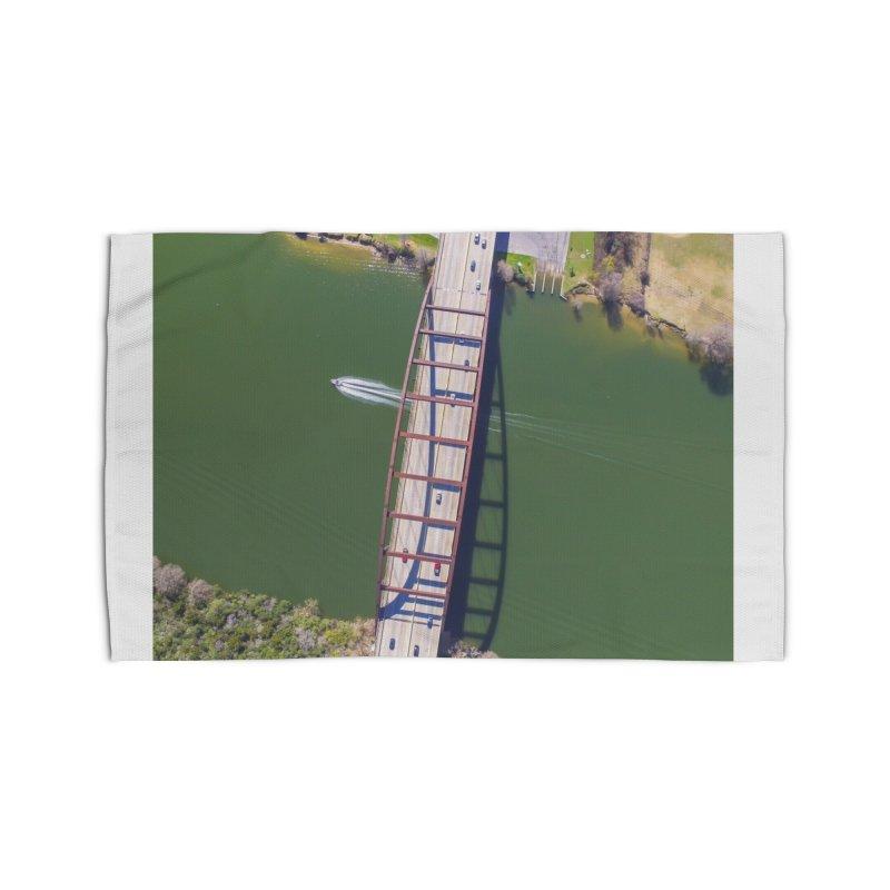 Over Pennybacker Bridge / Custom Merchandise / Aerial Photography Home Rug by Holp Photography Artist Shop
