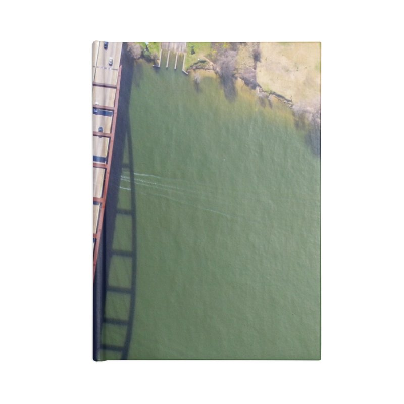 Over Pennybacker Bridge / Custom Merchandise / Aerial Photography Accessories Blank Journal Notebook by Holp Photography Artist Shop