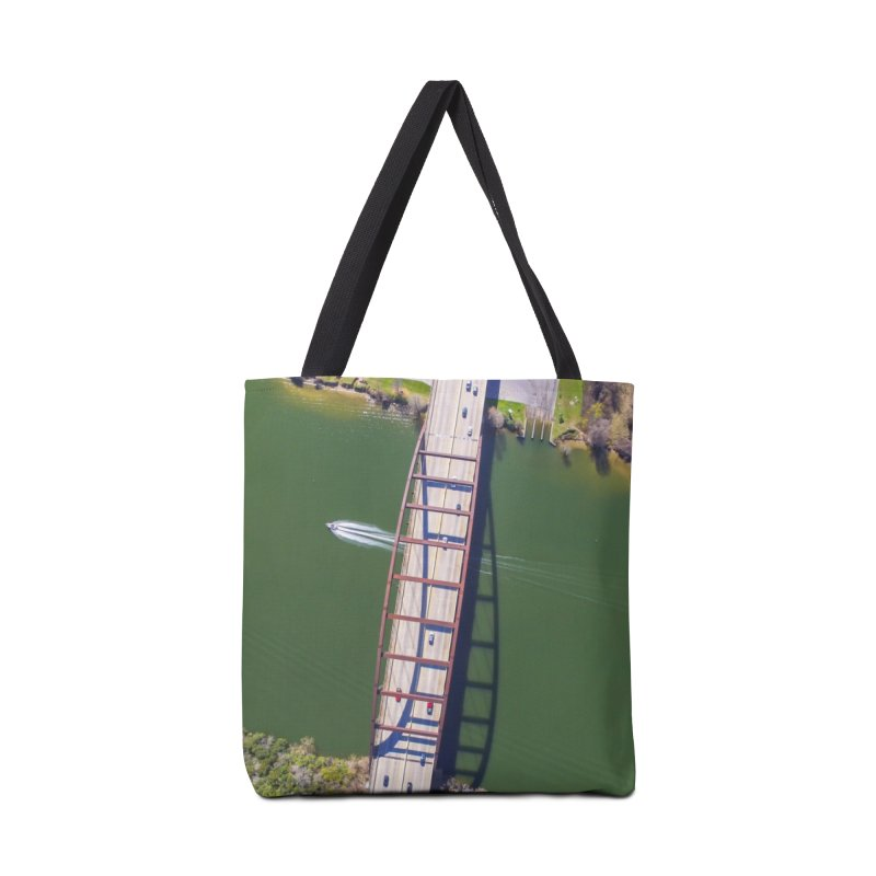 Over Pennybacker Bridge / Custom Merchandise / Aerial Photography Accessories Tote Bag Bag by Holp Photography Artist Shop