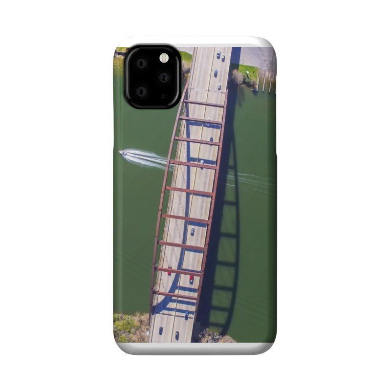 Over Pennybacker Bridge / Custom Merchandise / Aerial Photography Accessories Phone Case by Holp Photography Artist Shop