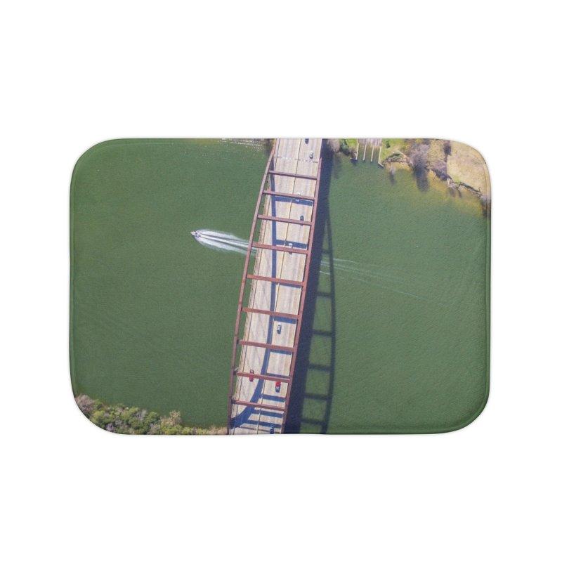 Over Pennybacker Bridge / Custom Merchandise / Aerial Photography Home Bath Mat by Holp Photography Artist Shop