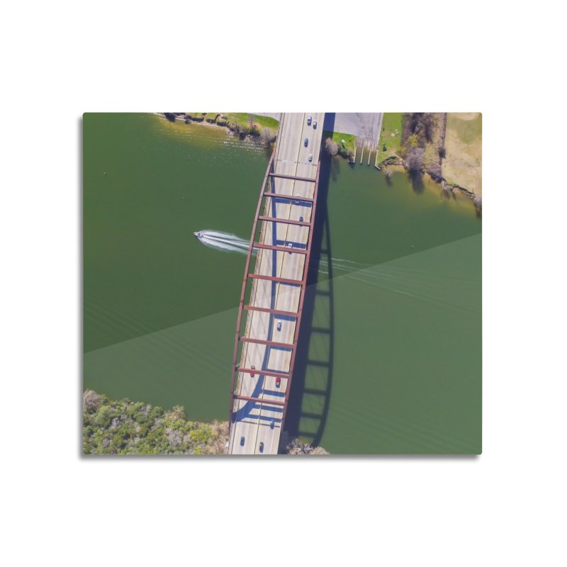 Over Pennybacker Bridge / Custom Merchandise / Aerial Photography Home Mounted Aluminum Print by Holp Photography Artist Shop