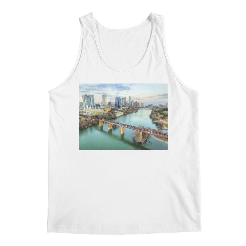 Austin Skyline Bridge / Custom Merchandise / Aerial Photography Men's Regular Tank by Holp Photography Artist Shop