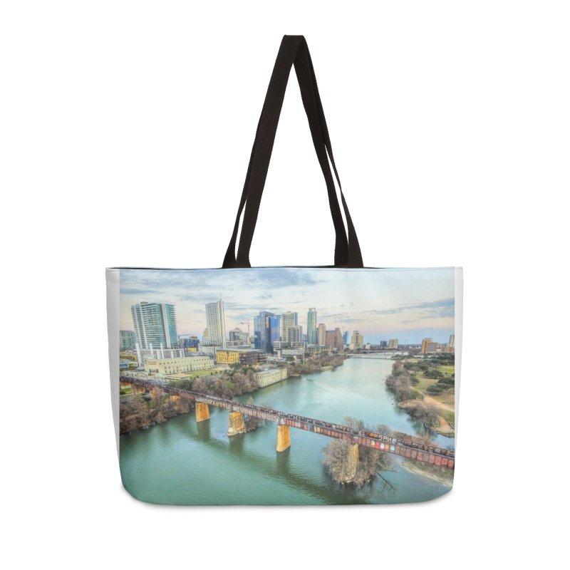 Austin Skyline Bridge / Custom Merchandise / Aerial Photography Accessories Bag by Holp Photography Artist Shop