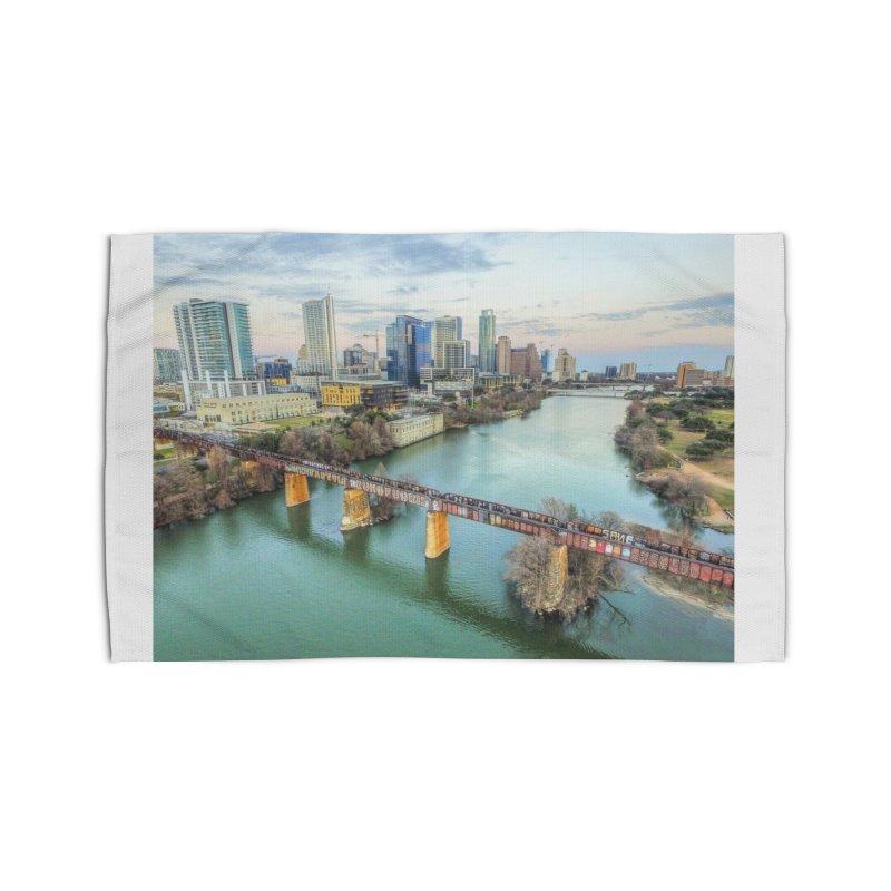 Austin Skyline Bridge / Custom Merchandise / Aerial Photography Home Rug by Holp Photography Artist Shop