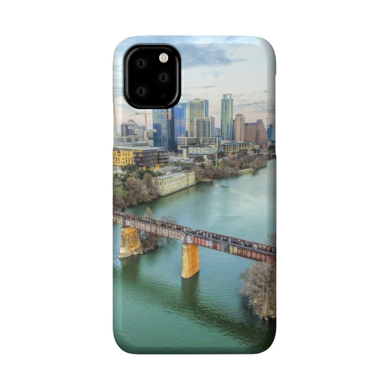 Austin Skyline Bridge / Custom Merchandise / Aerial Photography Accessories Phone Case by Holp Photography Artist Shop