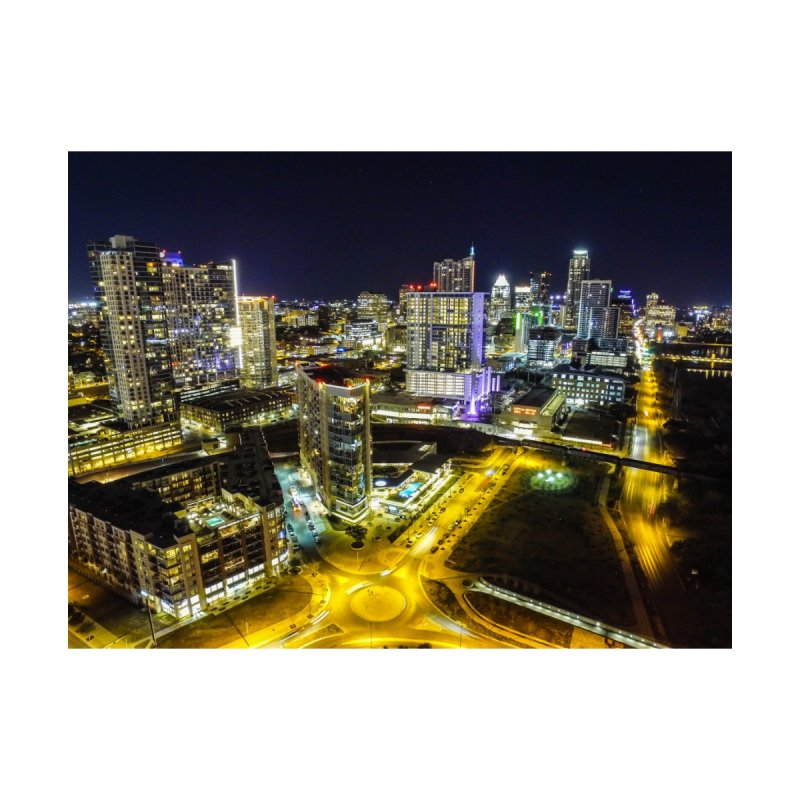 Austin Night Skyline / Custom Merchandise / Aerial Photography by Holp Photography Artist Shop