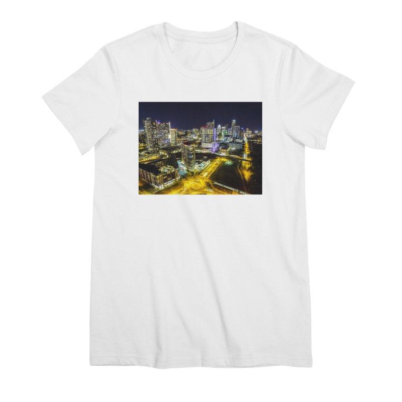 Austin Night Skyline / Custom Merchandise / Aerial Photography Women's Premium T-Shirt by Holp Photography Artist Shop