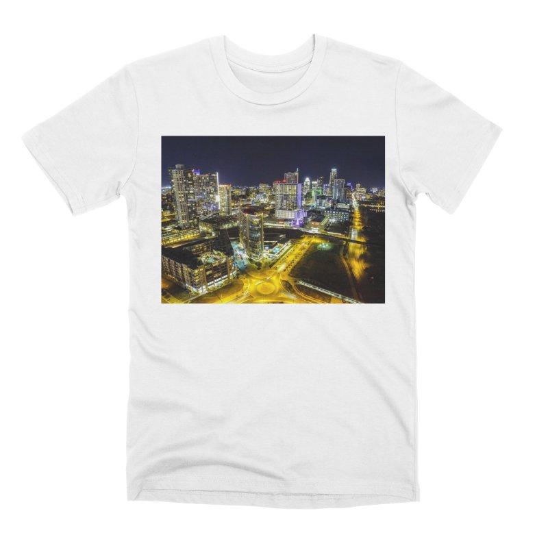 Austin Night Skyline / Custom Merchandise / Aerial Photography Men's Premium T-Shirt by Holp Photography Artist Shop