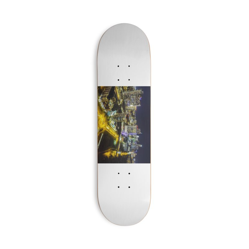 Austin Night Skyline / Custom Merchandise / Aerial Photography Accessories Deck Only Skateboard by Holp Photography Artist Shop