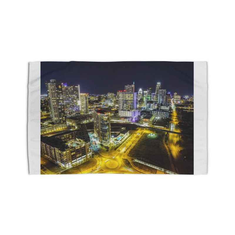 Austin Night Skyline / Custom Merchandise / Aerial Photography Home Rug by Holp Photography Artist Shop