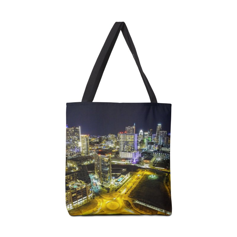 Austin Night Skyline / Custom Merchandise / Aerial Photography Accessories Tote Bag Bag by Holp Photography Artist Shop