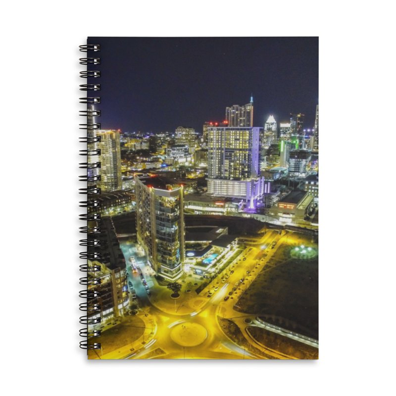 Austin Night Skyline / Custom Merchandise / Aerial Photography Accessories Lined Spiral Notebook by Holp Photography Artist Shop