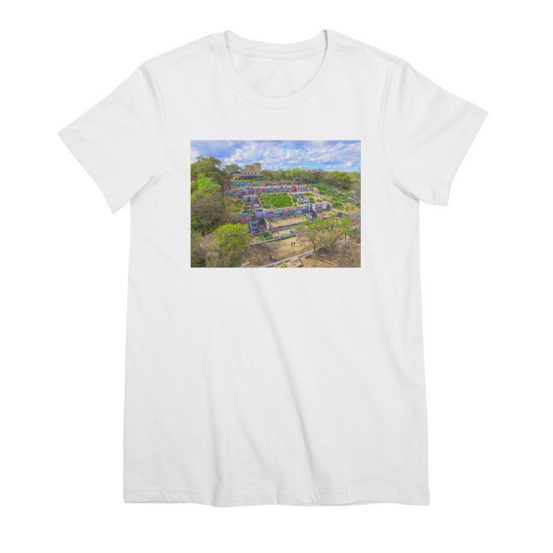 Hope Outdoor Gallery / Custom Merchandise / Aerial Photography Women's Premium T-Shirt by Holp Photography Artist Shop