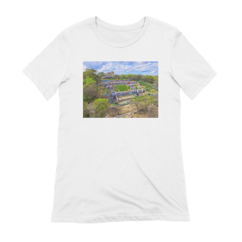 Hope Outdoor Gallery / Custom Merchandise / Aerial Photography Women's Extra Soft T-Shirt by Holp Photography Artist Shop