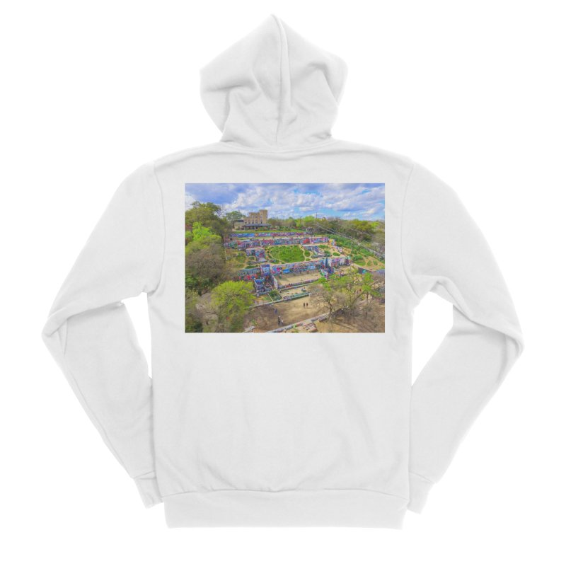 Hope Outdoor Gallery / Custom Merchandise / Aerial Photography Women's Sponge Fleece Zip-Up Hoody by Holp Photography Artist Shop