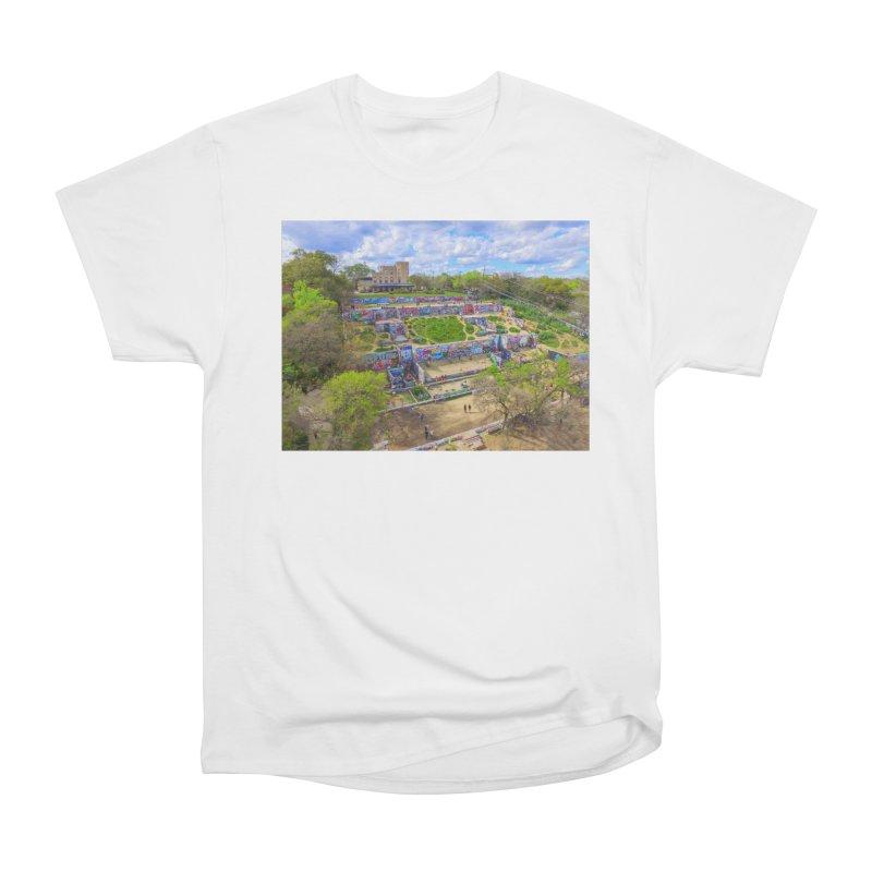 Hope Outdoor Gallery / Custom Merchandise / Aerial Photography Women's Heavyweight Unisex T-Shirt by Holp Photography Artist Shop