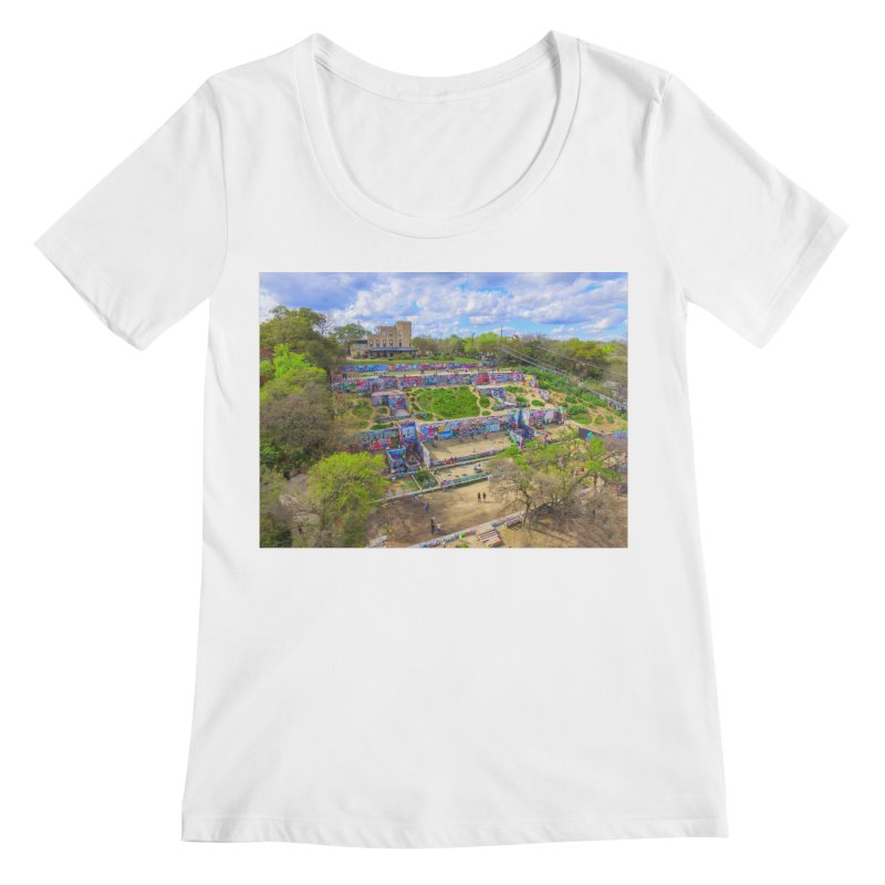 Hope Outdoor Gallery / Custom Merchandise / Aerial Photography Women's Regular Scoop Neck by Holp Photography Artist Shop