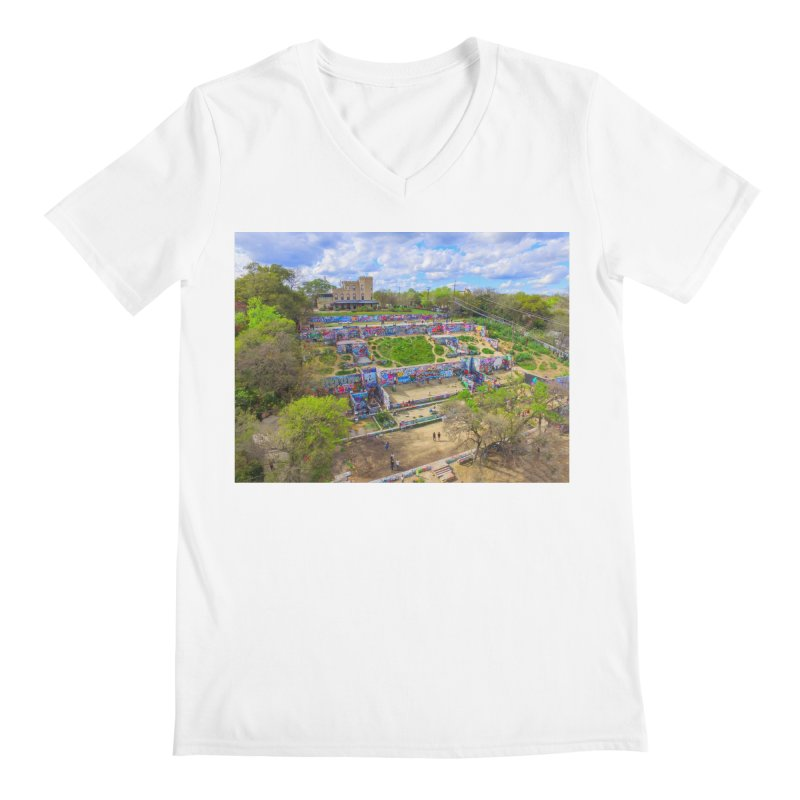 Hope Outdoor Gallery / Custom Merchandise / Aerial Photography Men's V-Neck by Holp Photography Artist Shop
